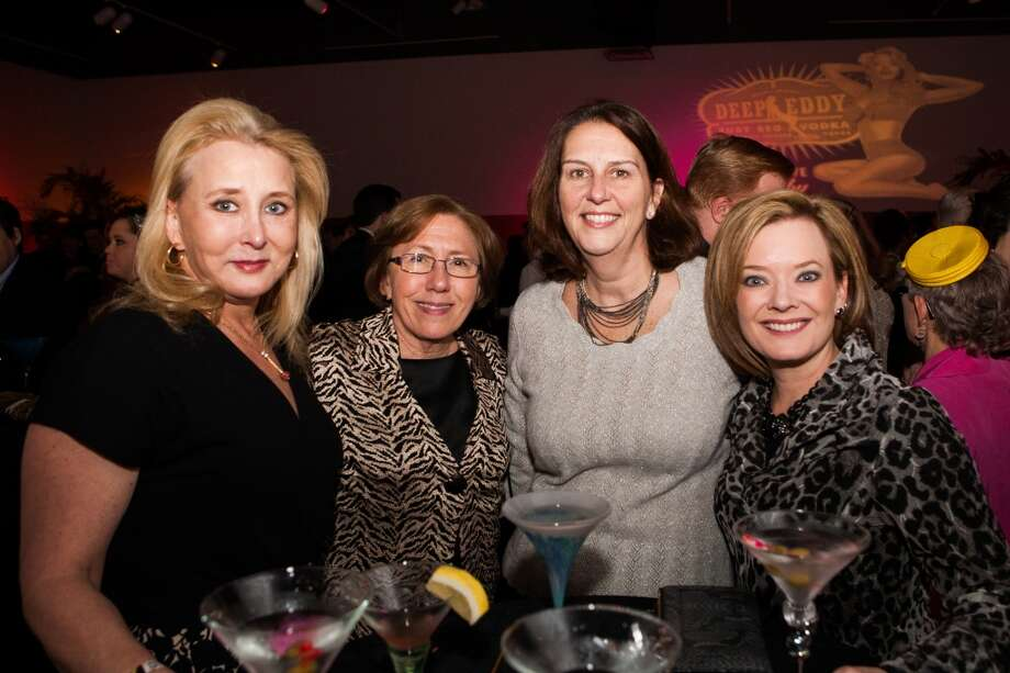 Sonja Beaty, Debby Chambers, Christine Keating and Chanda Cashen pose during Martini Madness at the Houston Center for Contemporary Craft Thursday January 30. Photo: Michael Starghill, Jr.