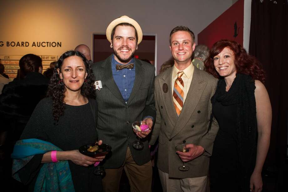 Thea Clark, Robert Thomas Mullen, Joel Carter and Sussanah Mira pose during Martini Madness at the Houston Center for Contemporary Craft Photo: Michael Starghill, Jr.
