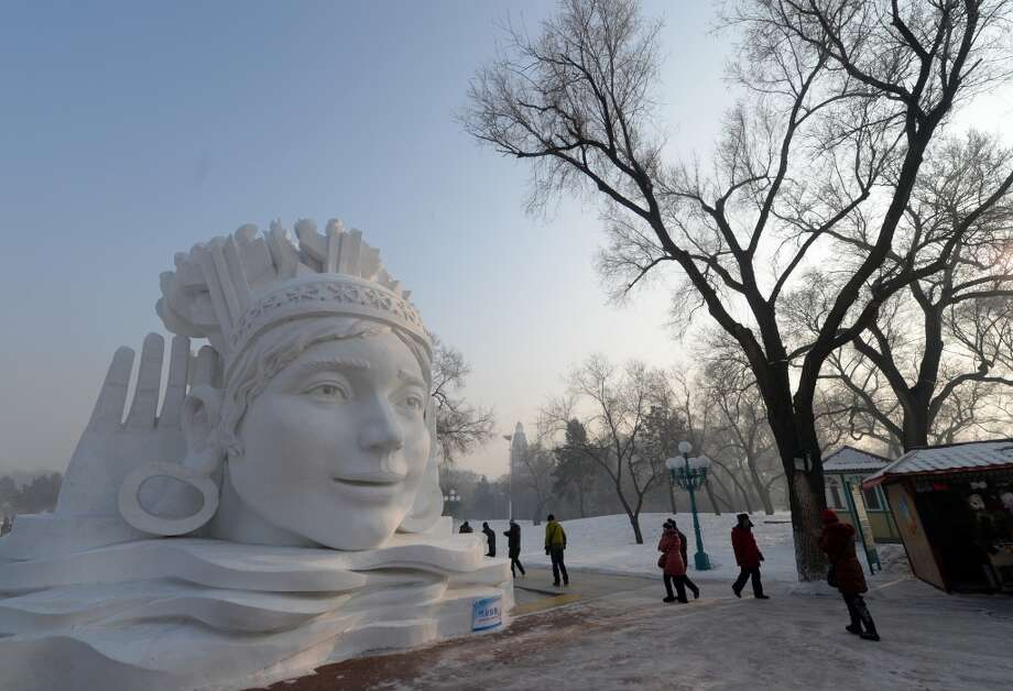 The Harbin International Ice and Snow Festival in China. Photo: GOH CHAI HIN, AFP/Getty Images