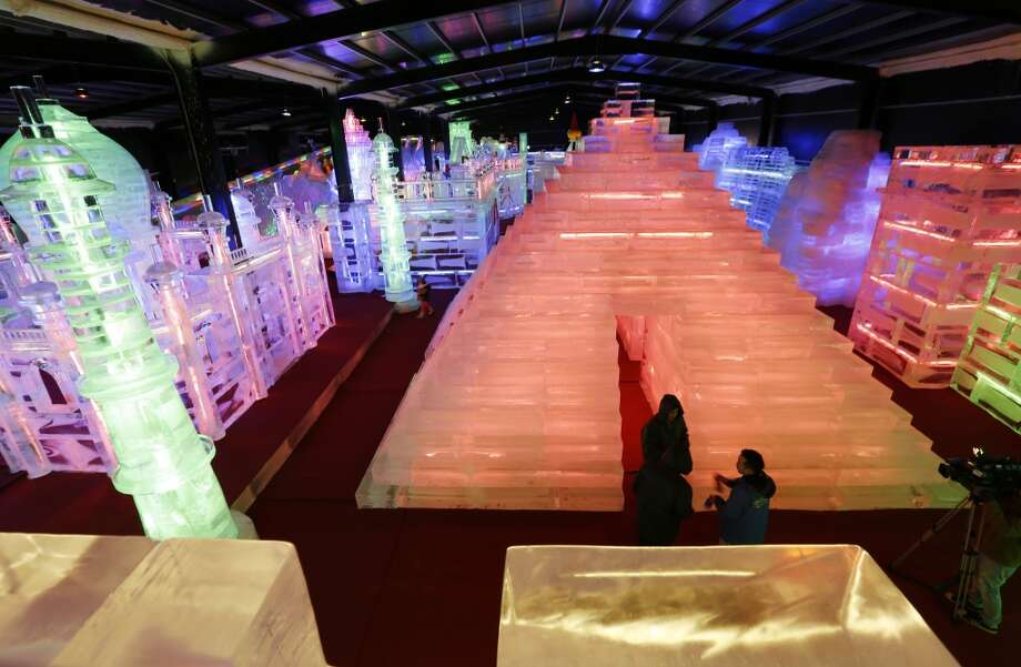 """Fantasy Ice World"" exhibition in Taipei, Taiwan. Photo: Ashley Pon, Getty Images"