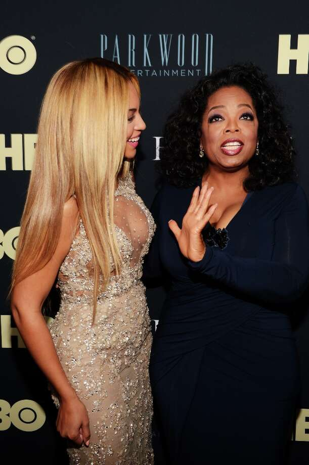 Beyonce and Oprah Winfrey attend the New York premiere for Beyonce's new documentary on Feb. 12 (Photo by Larry Busacca/Getty) Photo: Larry Busacca, 2013 Getty Images / 2013 Getty Images