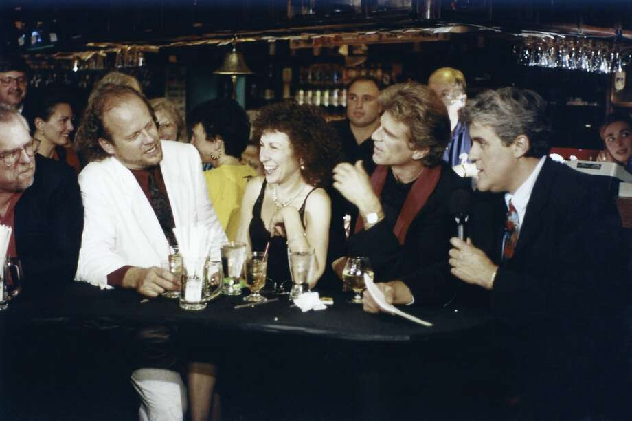 """On May 20, 1993, """"The Tonight Show"""" helped the cast of """"Cheers"""" send their show off. At a bar. With lots of booze.  Photo: Nbc, NBCU Photo Bank"""