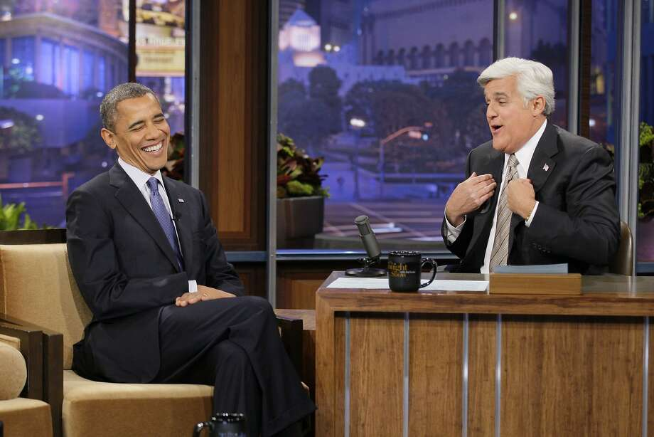 "In 2009, President Barack Obama became the first sitting president of the U.S. to appear on ""The Tonight Show."" He made another appearance in 2012. Photo: Paul Drinkwater"