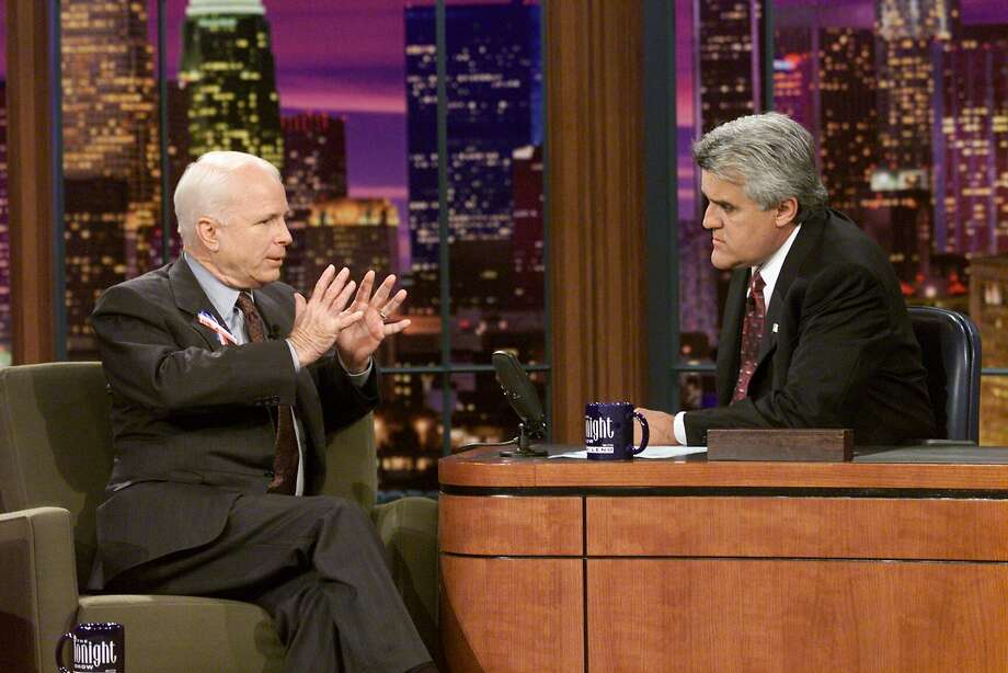 Senator John McCain was one of the guests Jay Leno hosted on his first show back after the attacks of Sept. 11, 2001.  Photo: Nbc, NBC/NBCU Photo Bank