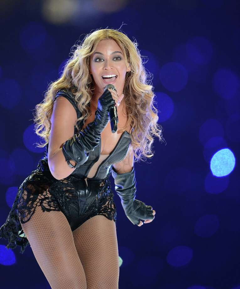 Beyonce performs during the halftime of Super Bowl XLVII at the Mercedes-Benz Superdome in New Orleans, Louisiana, Sunday, February 3, 2013. (Lionel Hahn/Abaca Press/MCT) Photo: Lionel Hahn