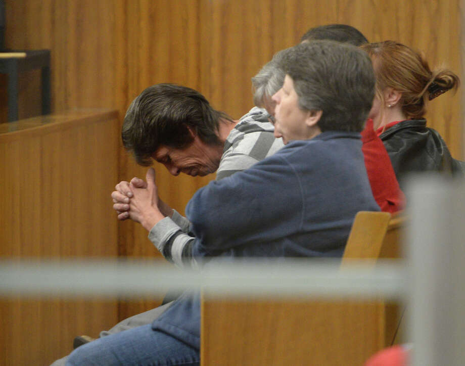 Family members of Joshua Glaze wait for the jury to return a verdict Tuesday afternoon. Glaze, on trial for murder for his part in the 2012 death of Brian Wayne Drake, Jr., was found guilty by a jury Tuesday. Photo taken Tuesday, 2/4/14 Contributed photo Photo: Jake Daniels / ©2013 The Beaumont Enterprise/Jake Daniels