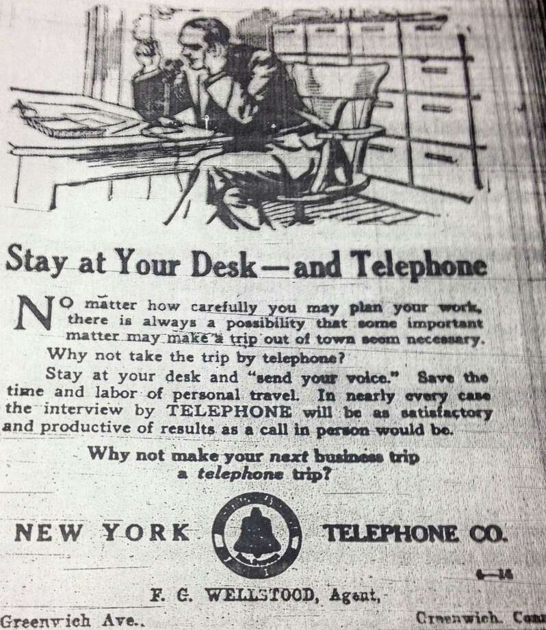 A business trip by telephone? No way!!! Photo: Contributed Photo / Greenwich Citizen