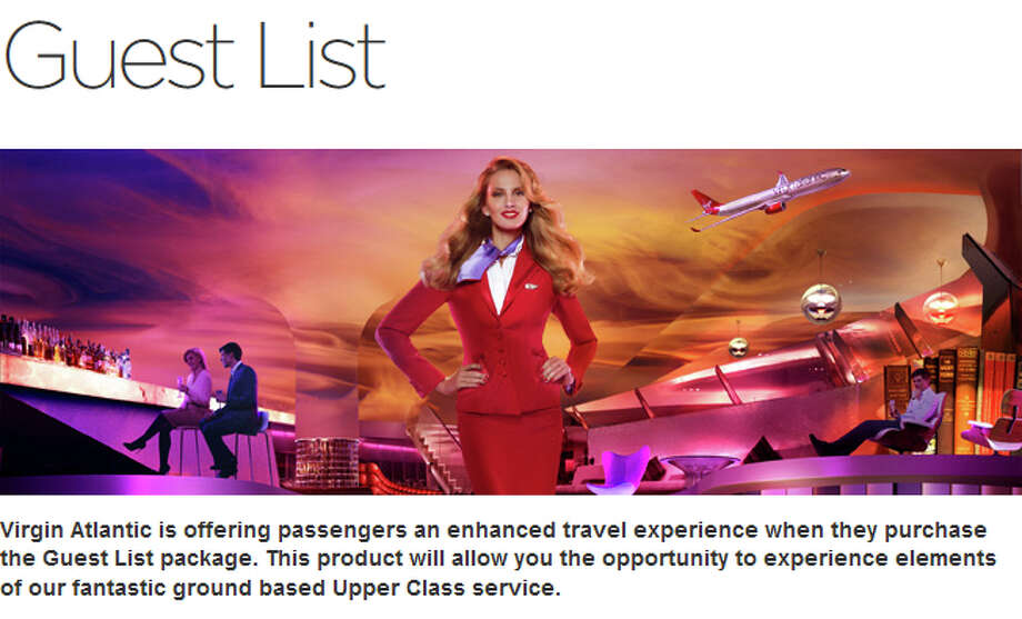 Virgin Atlantic's Guest List package includes chauffeur car service, access to the Upper Class Wing at London Heathrow Airport, Clubhouse access, fast-track immigration and security clearance, and priority tagged baggage. Price: $384, with one passenger and one car journey. Photo: Virgin Atlantic