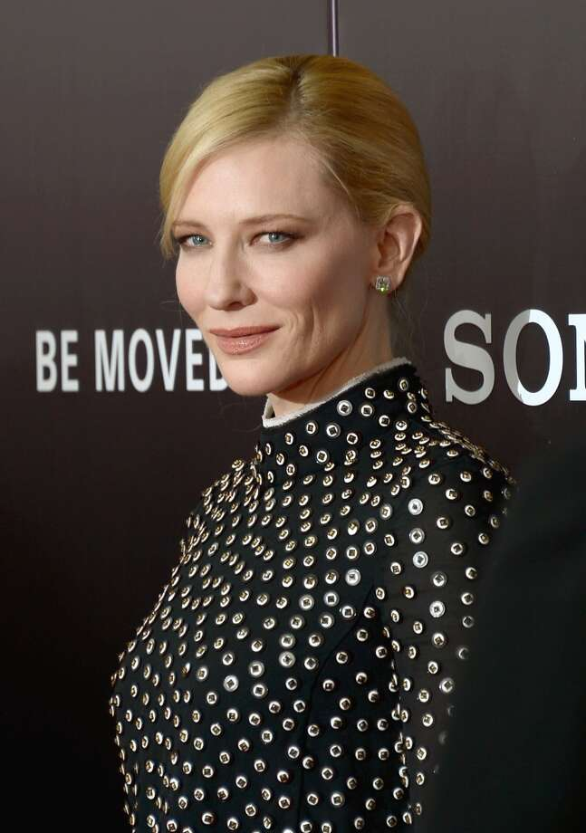 "Actress Cate Blanchett attends the ""Monument Men"" premiere at Ziegfeld Theater on February 4, 2014 in New York City, New York. Photo: Michael Loccisano, Getty Images"