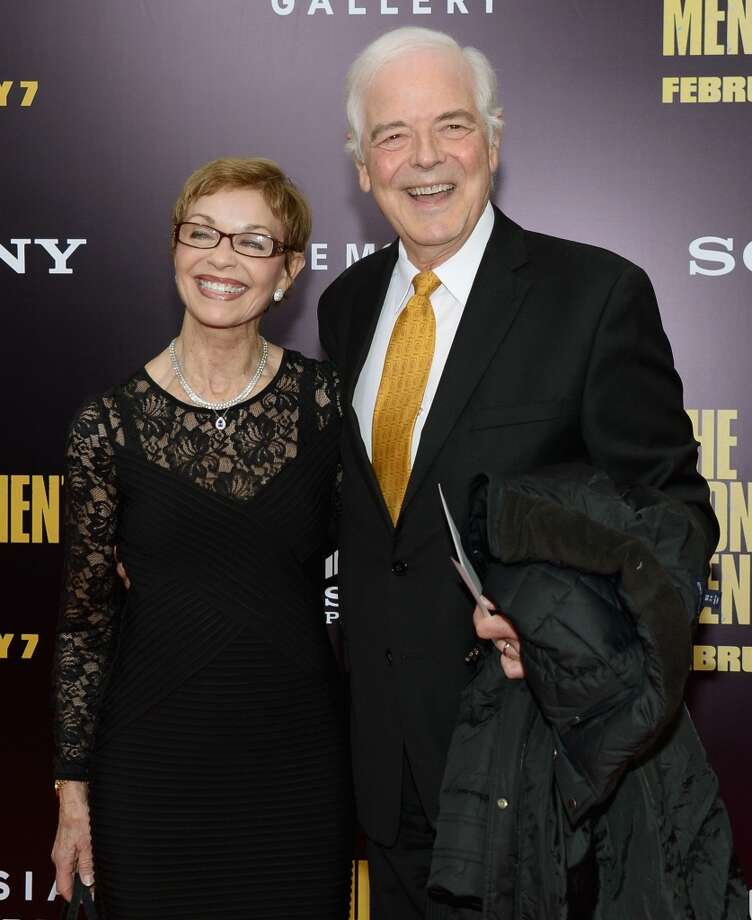 "Journalist Nick Clooney (R) and Nina Bruce Warren attend the ""Monument Men"" premiere at Ziegfeld Theater on February 4, 2014 in New York City, New York. Photo: Michael Loccisano, Getty Images"