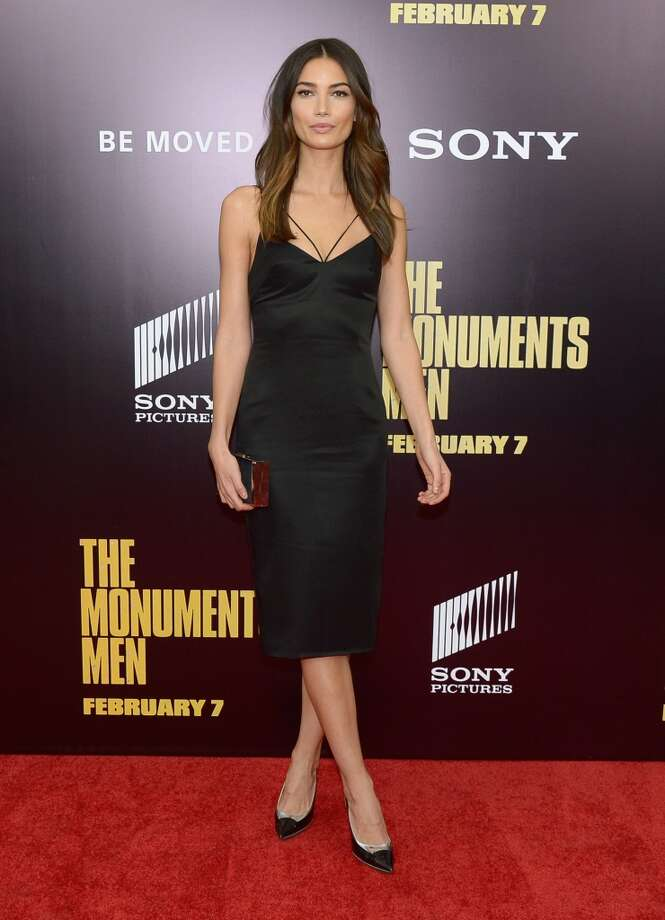 "Model Lily Aldridge attends the ""Monument Men"" premiere at Ziegfeld Theater on February 4, 2014 in New York City, New York. Photo: Michael Loccisano, Getty Images"