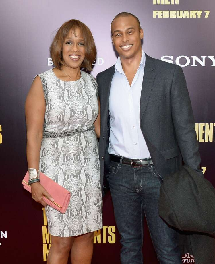 "TV personality Gayle King (L) and William Bumpus Jr. attends the ""Monument Men"" premiere at Ziegfeld Theater on February 4, 2014 in New York City, New York. Photo: Michael Loccisano, Getty Images"