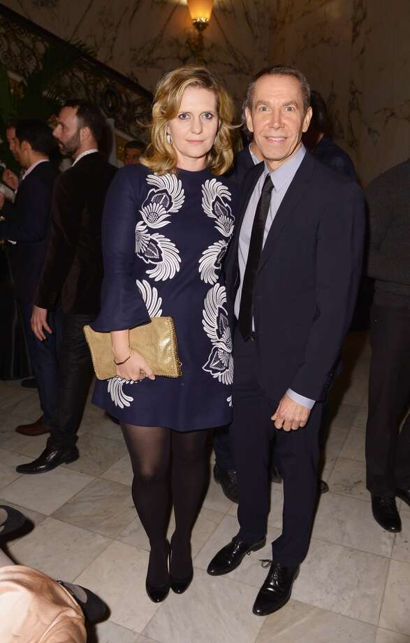 "Jeff Koons (R) and wife Justine Koons attend the after party following the ""Monuments Men"" premiere at The Metropolitain Club on February 4, 2014 in New York City. Photo: Michael Loccisano, Getty Images"