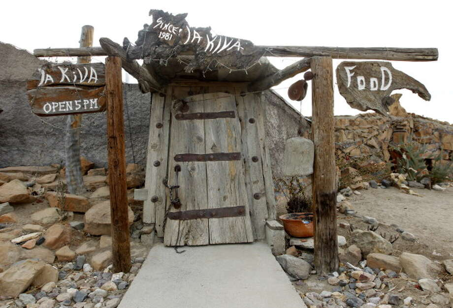 TERLINGUA, TX - JANUARY, 15 -  Entrance to La Kiva Bar in Terlingua, Texas Sunday Janurary 15, 2012. (Photo by Erich Schlegel/For The Washington Post via Getty Images) Photo: The Washington Post, The Washington Post/Getty Images / 2011 The Washington Post