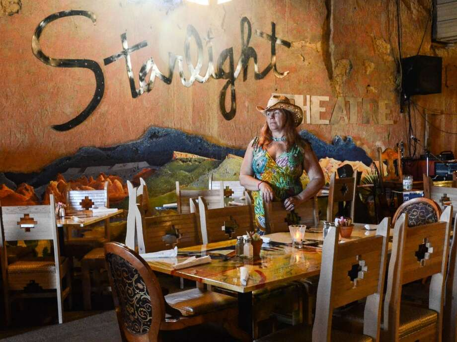 """Cowgirl Kathy"" Wisdom holding down the fort at Starlight Theater. (Photos /Jessica Lutz)"