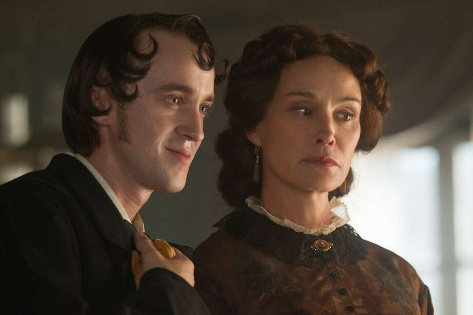"Jessica Lange plays Madame Raquin, who arranges the marriage of her son, played by Tom Felton, and her adoptive daughter in ""In Secret."" Photo: Roadside Attractions"