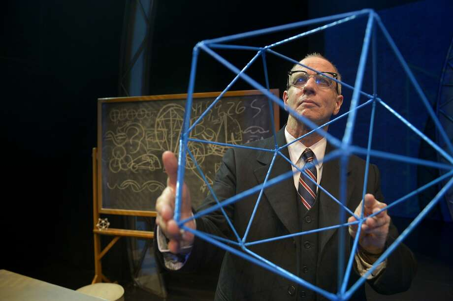 "Ron Campbell reprises his role as inventor and philosopher R. Buckminster ""Bucky"" Fuller. Photo: Kevin Berne"