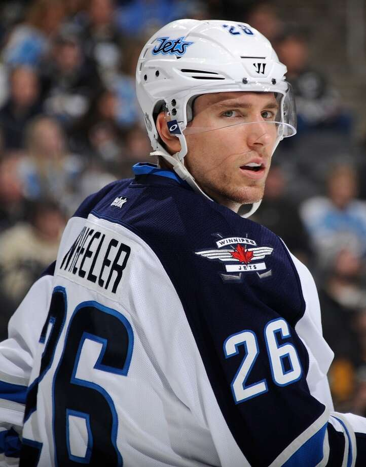Blake WheelerIce hockeyRobbinsdale, Minn.Now in his sixth NHL season, Wheeler has used his mix of skill and size to become one of the better power forwards in the league. Since 2011-12, he has averaged just under a point-per-game and is currently on pace to best his career-highs in goals and assists in 2013-14 with the Winnipeg Jets. @BiggieFunke Photo: Joe Sargent, NHLI Via Getty Images