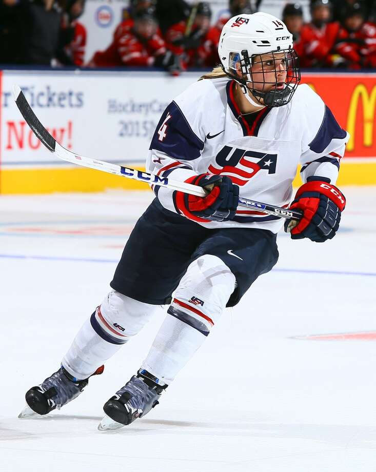 Brianna DeckerIce hockeyDousman, Wis.Over the past few seasons, Decker has become one of Team USA's most reliable players and one of its premier offensive weapons. Despite playing in her first Olympic Games, she's skated in the last three world championships and won the 2012 Patty Kazmaier Memorial Award, and should make an immediate impact.@Bdecker14 Photo: Getty Images