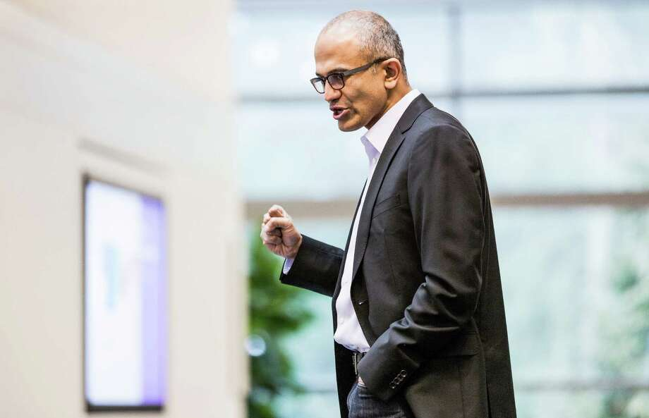 This undated photo provided by Microsoft shows Satya Nadella. Microsoft announced Tuesday, Feb. 4, 2014,  that Nadella will replace Steve Ballmer as its new CEO.  Nadella will become only the third leader in the software giant's 38-year history, after founder Bill Gates and Ballmer. Board member John Thompson will serve as Microsoft's new chairman.  (AP Photo/Microsoft)  ORG XMIT: NYBZ130 / Microsoft