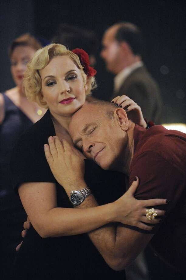 """Autopsy Turvy"" Episode 616 -- Pictured: (l-r) Jocelyne Loewen as Sandy, Corbin Bernsen as Henry. Photo: USA Network, USA Network/NBCU Photo Bank"