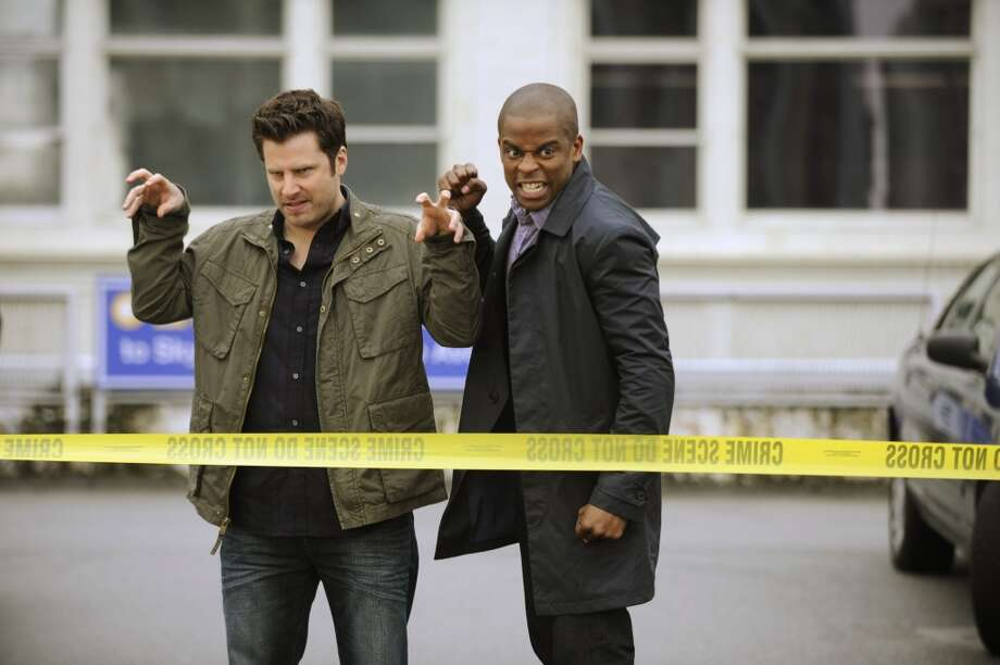 """The Episode Sucks"" -- Pictured: (l-r) James Roday as Shawn Spencer, Dule Hill as Burton Guster. Photo: USA Network, USA Network Via Getty Images"