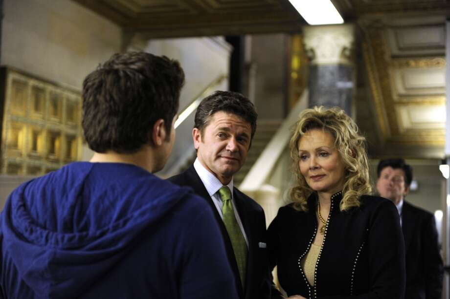 """Chivalry Is Not Dead But Someone Is"" Episode #5002 -- Pictured: (l-r) John Michael Higgins as X, Jeans Smart as X. Photo: USA Network, USA Network Via Getty Images"