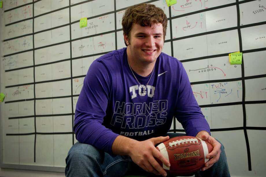 Brenham tackle Austin Schlottmann gives TCU one of the top-ranked offensive linemen in the state. Photo: Brett Coomer, Staff / © 2014 Houston Chronicle
