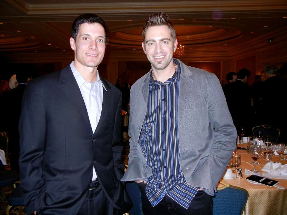 SF Giants pitchers (from left) Javier Lopez and Jeremy Affeldt at the Ritz-Carlton during the Guardsmen Sports Auction. Photo: Catherine Bigelow, Special To The Chronicle