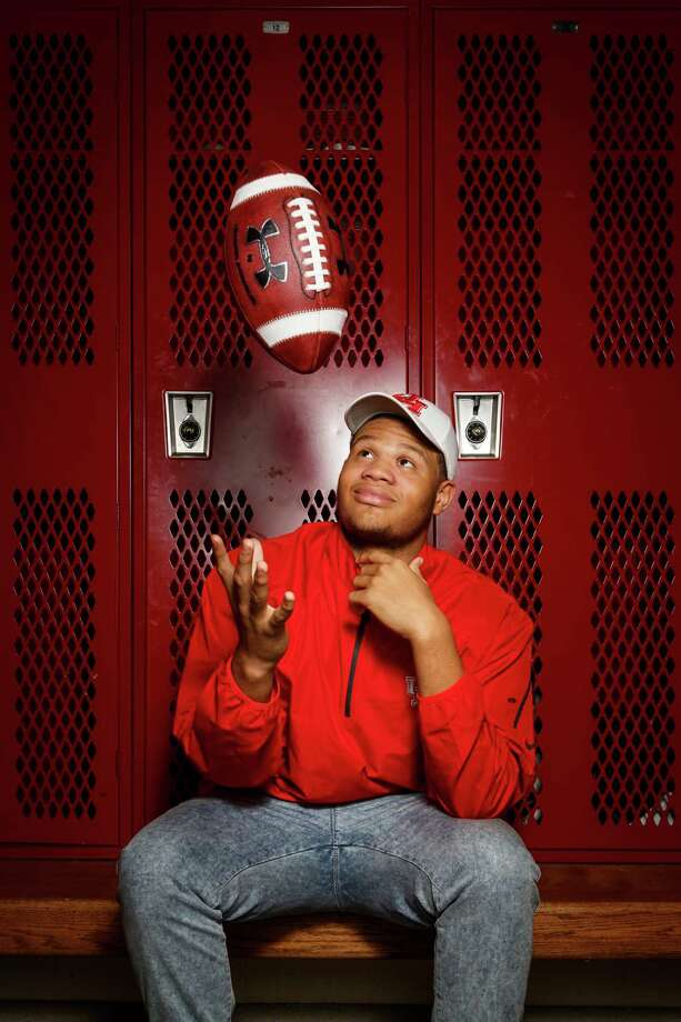 Westfield offensive lineman Marcus Oliver won't have to worry about getting homesick in college after making Houston his official choice on Wednesday. Photo: Michael Paulsen, Staff / © 2014 Houston Chronicle