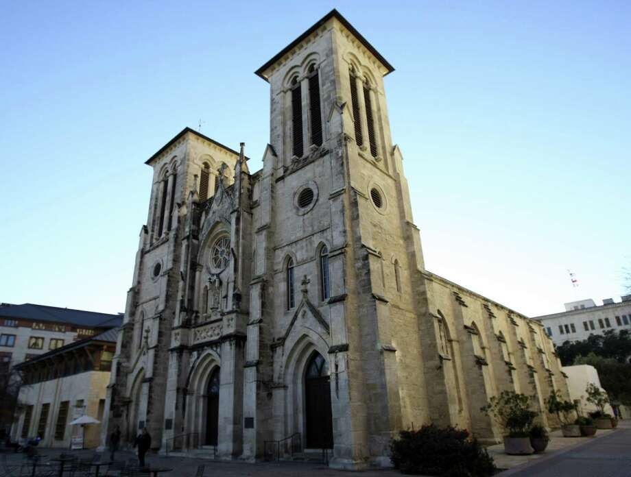 A 21-minute video by French artist Xavier de Richemont on the region's history is set to debut June 13. It will be projected onto the façade of San Fernando Cathedral four nights a week. Photo: San Antonio Express-News File Photo / ©2013 San Antonio Express-News