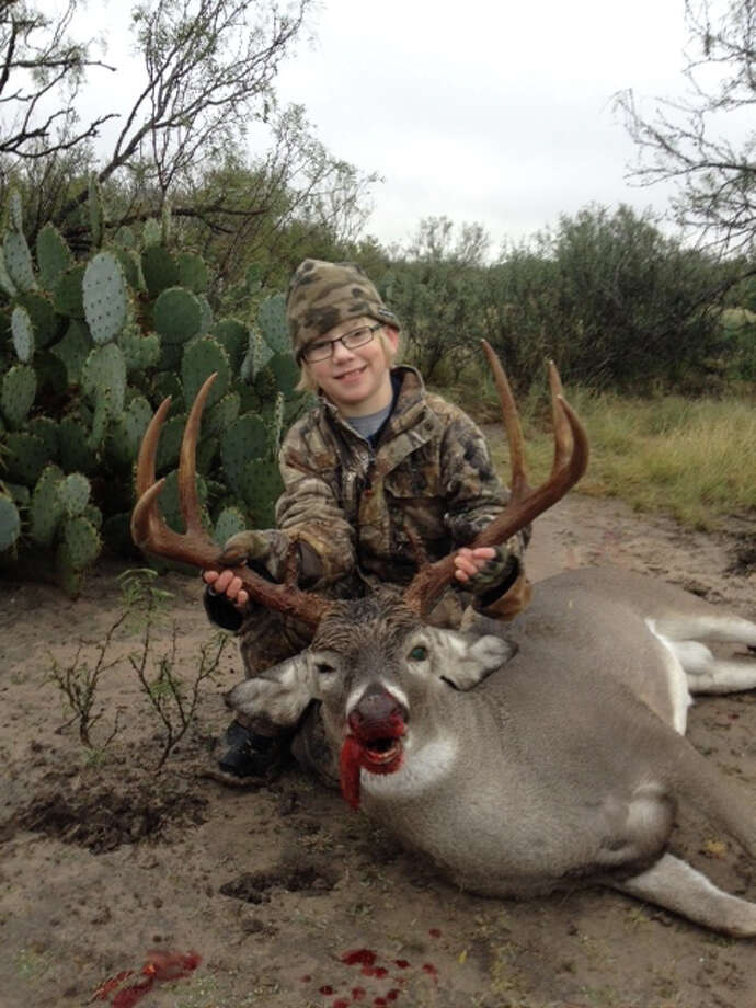 Zane Potter shot his first deer in Carrizo Springs, Texas on Nov. 18. Submitted by Toby Potter.