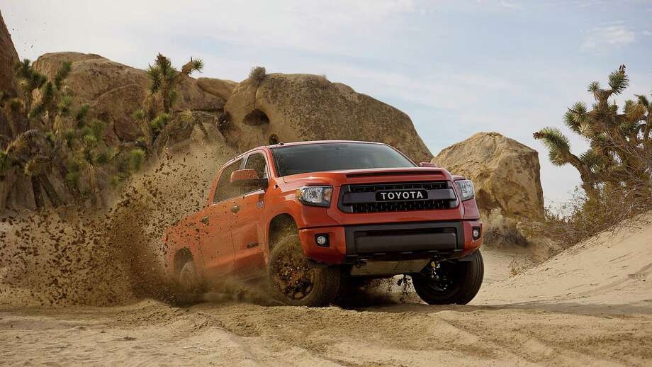 Toyota this week debuts the new off-road TRD Pro Series edition of the San Antonio-made Tacoma and Tundra pickups and 4Runner SUV at the Chicago Auto Show. The manufacturer's past TRD models have won numerous awards in the Baja 500 and 1000 endurance races Photo: Courtesy, Chris Burkard / chris burkard photography