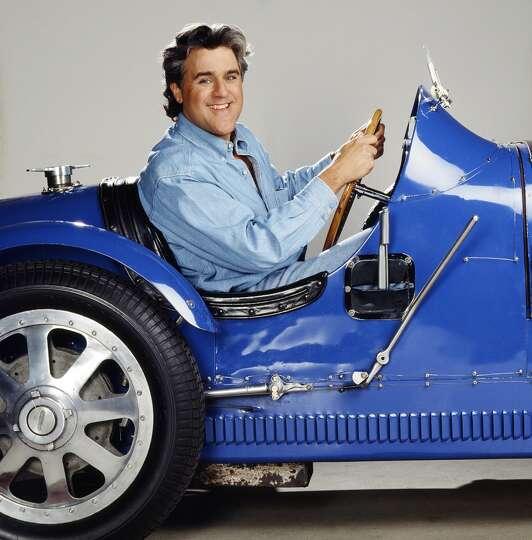 Jay Leno Behind The Wheel Of His Bugatti Type 51. Photo