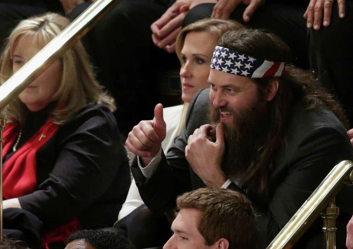 """Willie Robertson of the television show """"Duck Dynasty"""" and his wife Korie Robertson were invited by Rep. Vance McAllister, R-La., as guests to President Barack Obama's State of the Union address on Jan. 28, 2014. See all the politicians who got to hobnob with the popular hunter and businessman."""