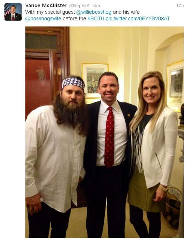 "In a statement, Rep. Vance McAllister said he invited Robertson and his wife to the Capitol because he was a ""close friend"" and that he wanted to inject some much needed ""diversity"" into the capitol.Source: Twitter"