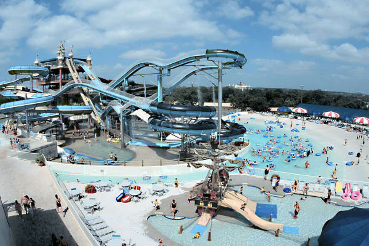 New Braunfels attraction: Schlitterbahn One of the biggest water parks in the world, on the banks of the Comal River.