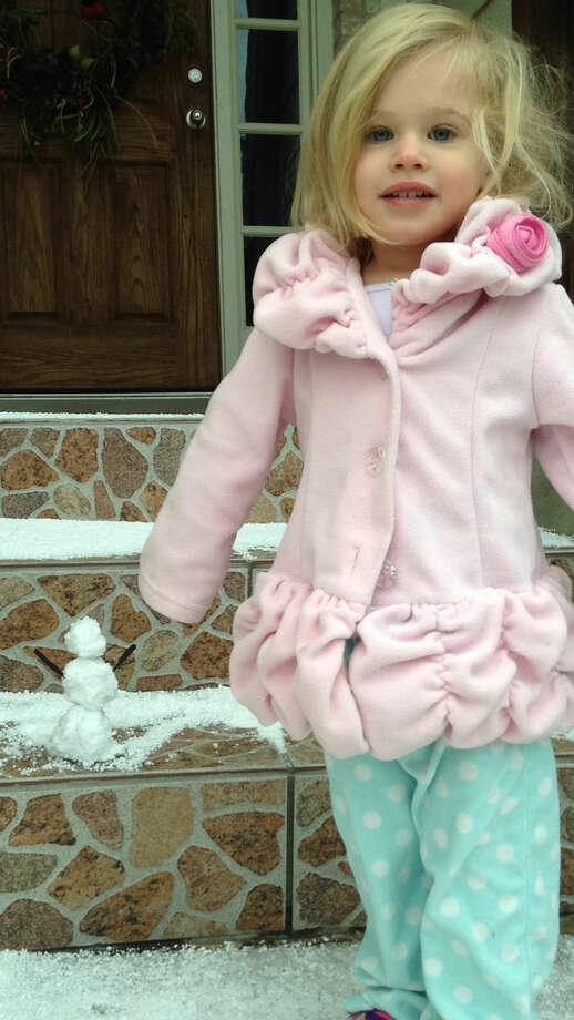 Caroline made a snowman Photo: Ashley Johnson