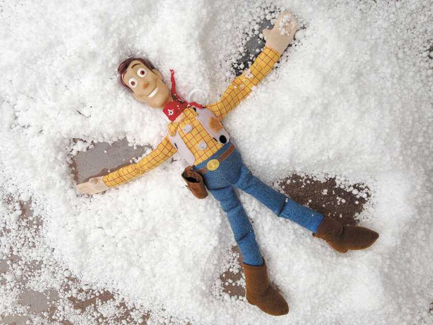 An authentic South Texas snow angel