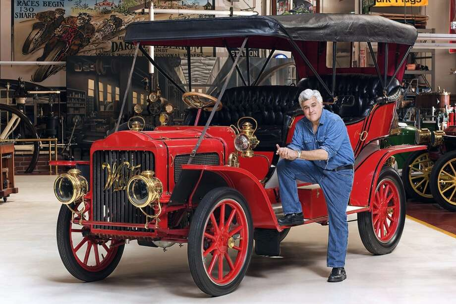 Jay Leno with 1908 White Steam Car. Photo: NBC, NBC Via Getty Images