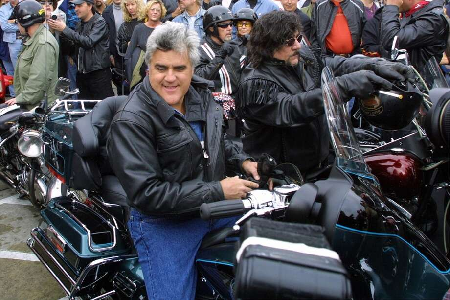 'Tonight Show'' Host Jay Leno attends a charity ride in 2001. Photo: Jason Kirk, Getty Images