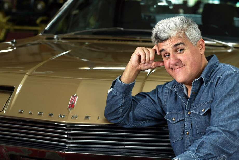 Jay Leno with his custom 1966 Oldsmobile Toronado. Photo: Lee Celano, WireImage