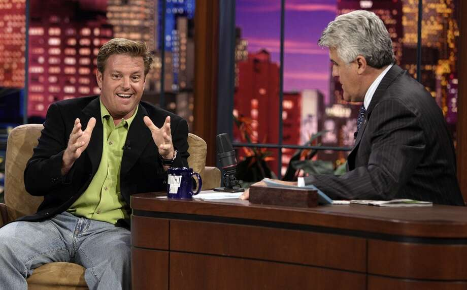 Jay Leno interviews famous car customizer Chip Foose in 2007. Photo: NBC, NBC Via Getty Images