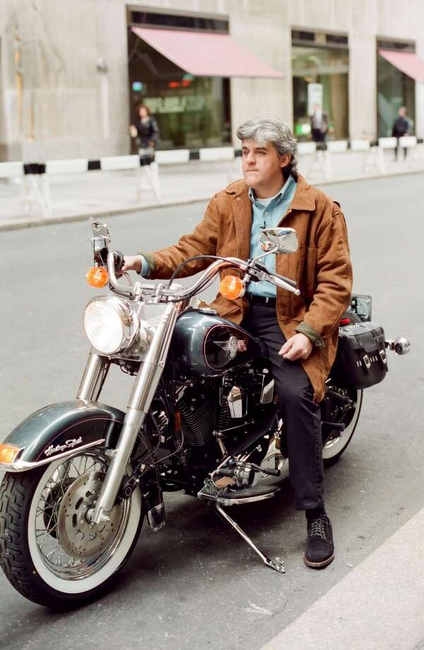 Jay Leno on a Harley during a taping of NBC's Today show  in1994. Photo: NBC, NBCU Photo Bank Via Getty Images