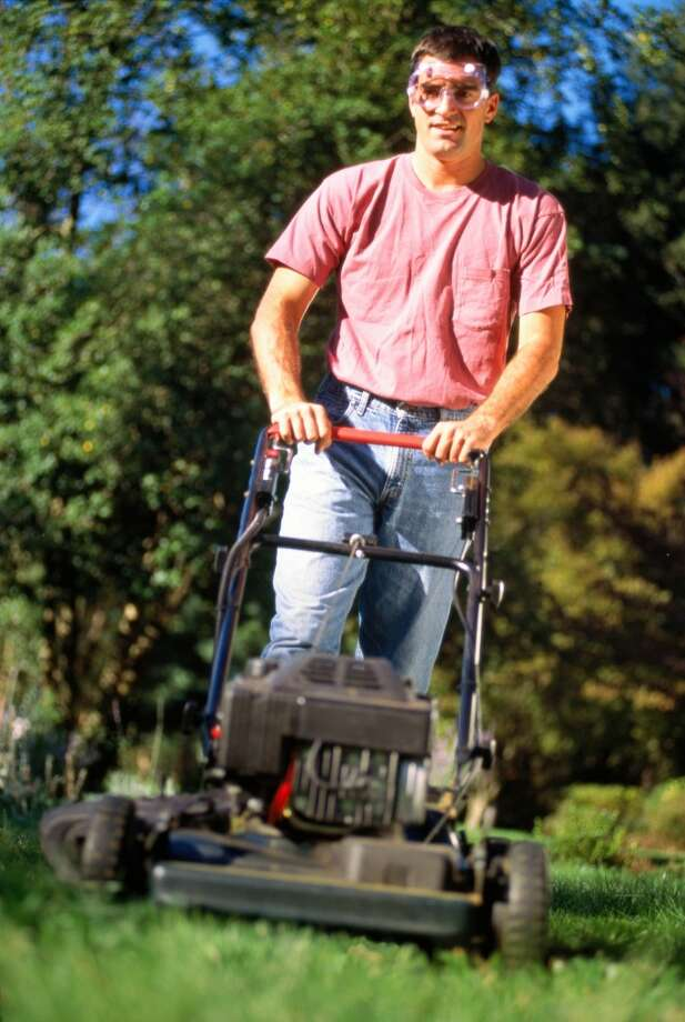 7. Not wearing gogglesDon't just save your goggles for swimming. If you're mowing the lawn, using a weed whacker, or doing home repairs, put some on to protect yourself from any flying debris, which can cause abrasions in the cornea. Make sure anyone nearby, especially children, also have protective eyewear on. Photo: Jon Riley, Getty Images