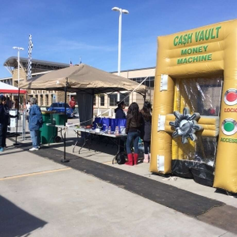 Keep Pearland Beautiful brought its Litter Grab booth to Winterfest. Photo: Courtesy Of Pearland Parks And Recreation