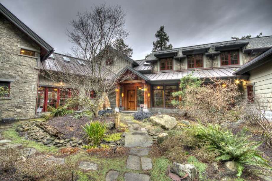 Front of 420 Catspaw Lane, on Orcas Island. It's listed for $11.5 million. Photo: Courtesy Wally Gudgell And Laura Hasselman,  Windermere Real Estate
