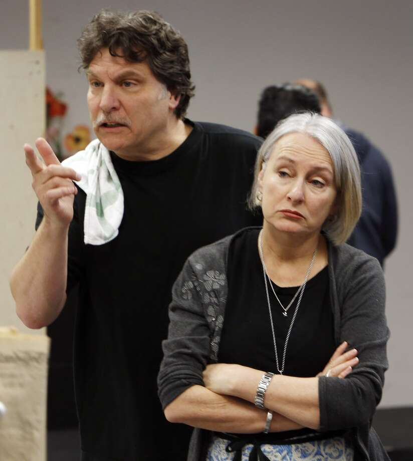 "Marco Barricelli (Gennaro) and Seana McKenna (Amalia) rehearse ""Napoli!"" Photo: Carlos Avila Gonzalez, The Chronicle"