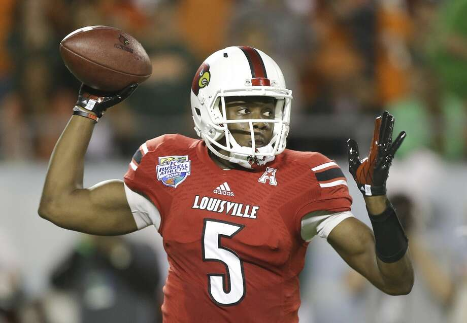 Teddy Bridgewater  Louisville  Junior  6-3, 205 pounds  Career stats: 9,817 yards passing, 72 TD, 24 INT, 68.4 completion percentageWent 30-9 as a starter for Louisville, including back-to-back postseason wins in the Sugar Bowl (Jan. 2013) and the Russell Athletic Bowl (Dec. 2013). Photo: John Raoux, Associated Press