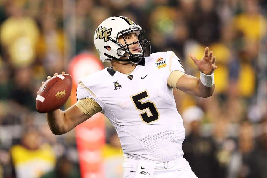 Blake Bortles  Central Florida  Redshirt junior  6-4, 230 pounds  Career stats: 7,598 yards passing, 56 TD, 19 INT, 65.7 completion percentage, 561 yards rushing, 15 TD  The redshirt junior led Central Florida to a win against Baylor in the Fiesta Bowl, and helped guide the Knights to a American Athletic  Conference championship in the league's inaugural season. Photo: Christian Petersen, Getty Images